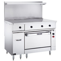 Vulcan EV48S-4HT240 Endurance Series 48 inch Electric Range 4 Hot Tops and Oven Base - 240V, 25 kW