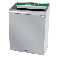 Rubbermaid 1961710 Configure 45 Gallon Stainless Steel 1 Stream Organic Waste Indoor Recycling Container