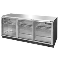 Continental Refrigerator SW72-U-GD 72 inch Low Profile Front Breathing Undercounter Refrigerator with Glass Doors - 20.6 Cu. Ft.