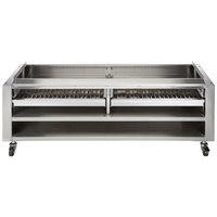 Wolf SMOKER-VCCB47 46 3/4 inch Wood Assist Stand with Two Wood Trays