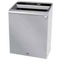 Rubbermaid 1961704 Configure 45 Gallon Stainless Steel 1 Stream Landfill Indoor Waste Container