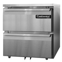Continental Refrigerator SWF27-U-D 27 inch Low Profile Undercounter Freezer with Two Drawers