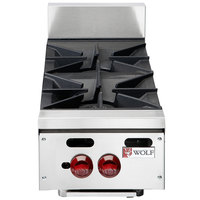 Wolf AHP212-NAT Achiever Natural Gas 12 inch 2 Burner Countertop Range - 60,000 BTU