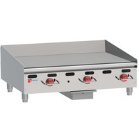 Wolf AGM36-LP Liquid Propane 36 inch Heavy-Duty Gas Countertop Griddle with Manual Controls - 81,000 BTU