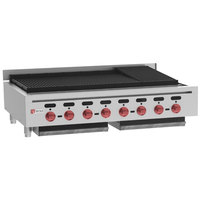 Wolf ACB47-LP Liquid Propane Low Profile 47 inch Heavy-Duty Radiant Gas Countertop Charbroiler - 128,000 BTU