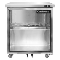 Continental Refrigerator SWF27-U-GD 27 inch Low Profile Undercounter Freezer with Glass Doors
