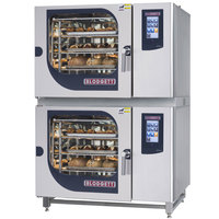 Blodgett BCT-62-62E Double Electric Combi Oven with Touchscreen Controls - 240V, 3 Phase, 21 kW / 21 kW