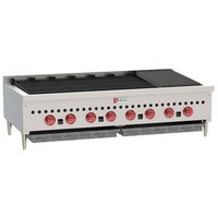 Wolf SCB72-NAT Natural Gas Low Profile 72 inch Radiant Gas Charbroiler - 188,500 BTU
