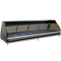 Alto-Shaam ED2-96B BK Black Heated Display Case with Curved Glass - Full Service 96 inch