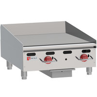 Wolf AGM24-LP Liquid Propane 24 inch Heavy-Duty Gas Countertop Griddle with Manual Controls - 54,000 BTU