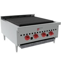 Wolf SCB25-NAT Natural Gas Low Profile 25 inch Radiant Gas Charbroiler - 58,000 BTU