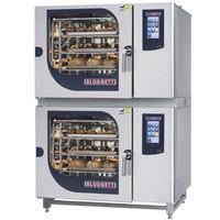 Blodgett BLCT-62-62G Liquid Propane Double Boilerless Combi Oven with Touchscreen Controls - 81,800 / 81,800 BTU