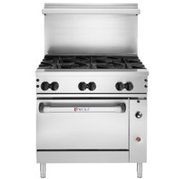 Wolf C36C-6BP Challenger XL Series Liquid Propane 36 inch Manual Range with 6 Burners and Convection Oven - 215,000 BTU