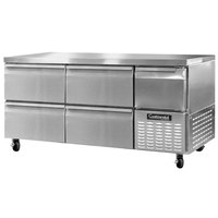 Continental Refrigerator CFA68-D 68 inch Undercounter Freezer with 4 Drawers and 1 Half Door - 22 cu. ft.