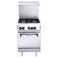 Wolf C24S-4BN Challenger XL Series Natural Gas 24 inch Range with 4 Burners and Standard Oven - 143,000 BTU