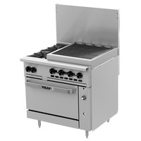 Wolf C36C-2B24CBP Challenger XL Series Liquid Propane 36 inch Range with 2 Burners, 24 inch Charbroiler, and Convection Oven - 159,000 BTU
