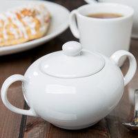 10 Strawberry Street RB0018 Classic White 8 oz. White Porcelain Sugar Bowl - 6/Case