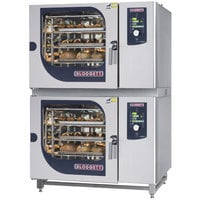 Blodgett BLCM-62-62E Double Boilerless Electric Combi Oven with Dial Controls - 480V, 3 Phase, 21 kW / 21 kW
