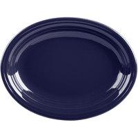 Homer Laughlin 457105 Fiesta Cobalt Blue 11 5/8 inch Medium Oval Platter   - 12/Case