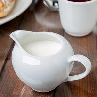10 Strawberry Street RB0016 Classic White 8 oz. White Porcelain Creamer - 6/Case