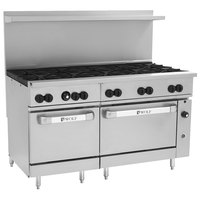 Wolf C60SC-10BN Challenger XL Series Natural Gas 60 inch Range with 10 Burners, 1 Standard, and 1 Convection Oven - 358,000 BTU