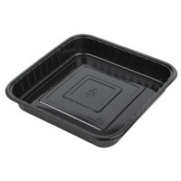 Genpak 55388 Bake 'N Show Dual Ovenable Square Brownie / Cake Pan - 250/Case