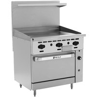 Wolf C36C-36GN Challenger XL Series Natural Gas 36 inch Manual Range with Griddle and Convection Oven - 95,000 BTU