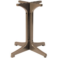 Grosfillex 55631181 1000 Taupe Resin Pedestal Outdoor Table Base