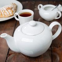 10 Strawberry Street RB0014 Classic White 36 oz. White Porcelain Teapot - 6/Case