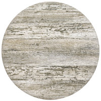 Grosfillex 99831246 30 inch Round Barn White Outdoor Molded Melamine Table Top