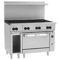 Wolf C48C-8BN Challenger XL Series Natural Gas 48 inch Range with 8 Burners and Convection Oven - 275,000 BTU