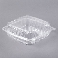Dart C95PST1 9 inch x 9 1/2 inch x 3 inch ClearSeal Clear Hinged Lid Plastic Container - 100/Pack