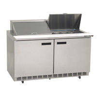 Delfield UC4460N-24M 60 inch 2 Door Mega Top Reduced Height Refrigerated Sandwich Prep Table