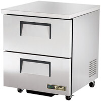True TUC-27D-2-ADA 27 inch ADA Height Undercounter Refrigerator with Two Drawers