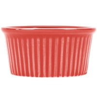 CAC RKF-6RED Festiware 6 oz. Red China Fluted Ramekin - 36/Case