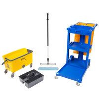 Janitor Cart and 18 inch Microfiber Wet Mop Kit