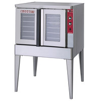 Blodgett ZEPHAIRE-200-E-240/1 Single Deck Full Size Bakery Depth Roll-In Electric Convection Oven - 240V, 1 Phase, 11 kW