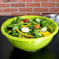 Fineline 5160-GRN Super Bowl 160 oz. Green PET Plastic Salad Bowl - 25/Case