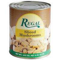 Regal Foods Sliced Mushrooms - #10 Can - 6/Case