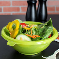 Fineline 5032-GRN Super Bowl 32 oz. Green PET Plastic Salad Bowl - 100/Case