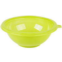 Fineline 5024-GRN Super Bowl 24 oz. Green PET Plastic Salad Bowl - 100/Case