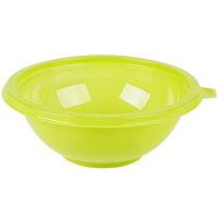 Fineline 5024-GRN Super Bowl 24 oz. Green PET Plastic Salad Bowl - 100/Case