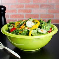 Fineline 5080-GRN Super Bowl 80 oz. Green PET Plastic Salad Bowl - 25/Case