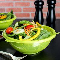 Fineline 5048-GRN Super Bowl 48 oz. Green PET Plastic Salad Bowl - 50/Case