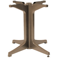 Grosfillex US624181 2000 Taupe Resin Pedestal Outdoor Table Base
