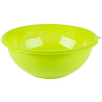 Fineline 5320-GRN Super Bowl 320 oz. Green PET Plastic Salad Bowl - 25/Case
