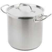 Vollrath 3503 Optio 11 Qt. Stainless Steel Stock Pot with Cover