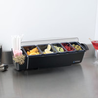 San Jamar BD4023S The Dome Bar Condiment and Garnish Center - 4.5 Qt. Capacity