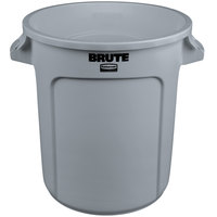 Rubbermaid FG261000GRAY BRUTE Gray 10 Gallon Trash Can