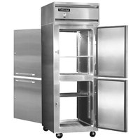 Continental Refrigerator 1FE-SS-PT-HD 28 1/2 inch Half Door Extra Wide Pass-Through Freezer - 21 Cu. Ft.